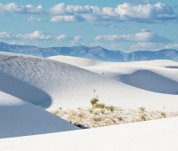 White Sands National Monument in New Mexico consists of some of the largest sand dunes in the world.