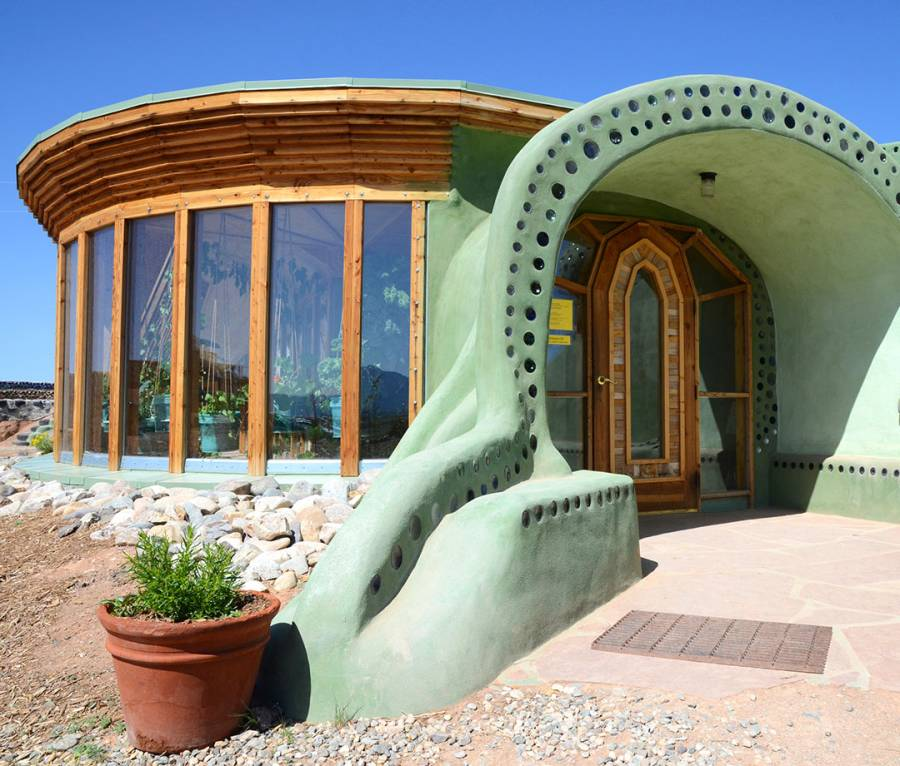 Earthship Village is home to what might be the most self-sufficient home in the world.