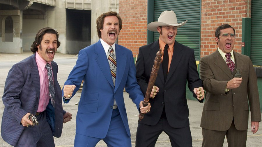 Anchorman - 2004 Paul Rudd, Will Ferrell, David Koechner, Steve CarellFrank Masi/Dreamworks/Apatow Prod/Kobal/Shutterstock