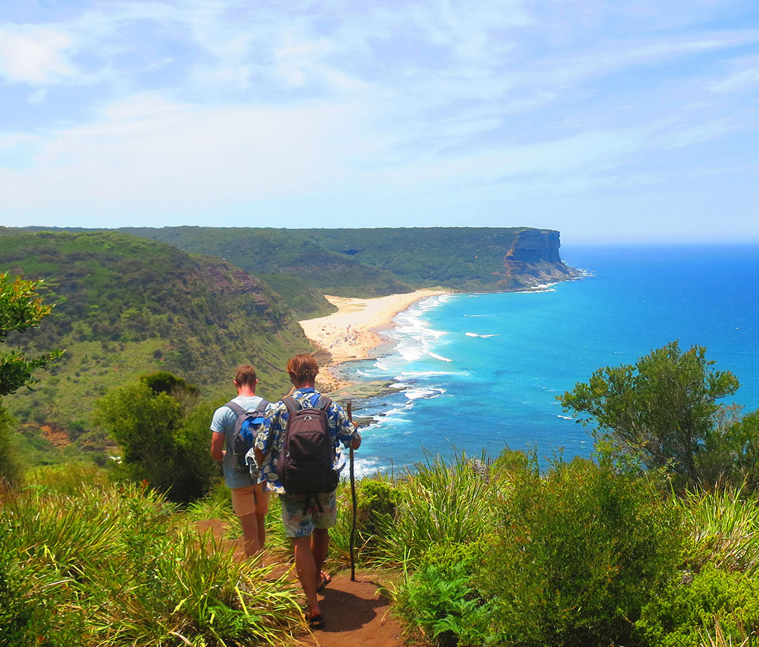 hiking in Australia in the Royal National Park