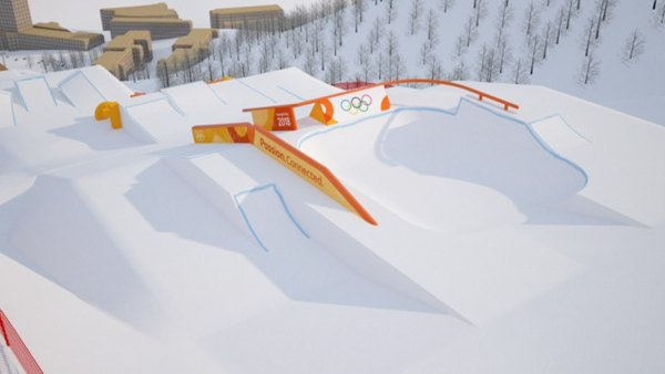 2018 Winter Olympic Snowboarding Slopestyle Course