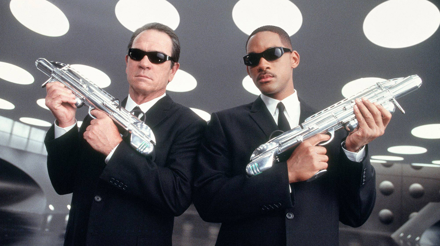 """Tommy Lee Jones and Will Smith in """"Men in Black."""""""