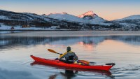 winter kayaking