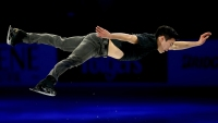 2018 Winter Olympics athlete Nathan Chen skates in the Smucker's Skating Spectacular during the 2018 Prudential U.S. Figure Skating Championships at the SAP Center on January 7, 2018 in San Jose, California.