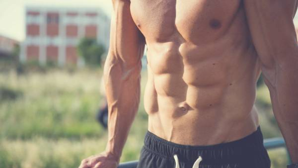 Man with six pack