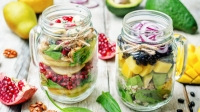 high-protein meal prep lunch recipes; salad in jar