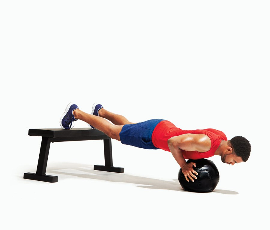 Feet-Elevated Pushup