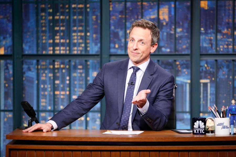 Seth Meyers hosts an episode of Late Night With Seth Meyers