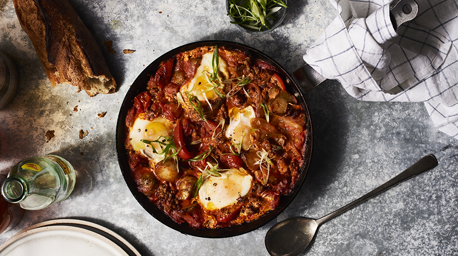 This Sausage Shakshouka Recipe Makes the Perfect Winter Dinner