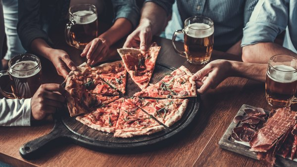 pizza and beer; Super Bowl party recipes
