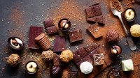 Confection, chocolate candies, truffles and bars