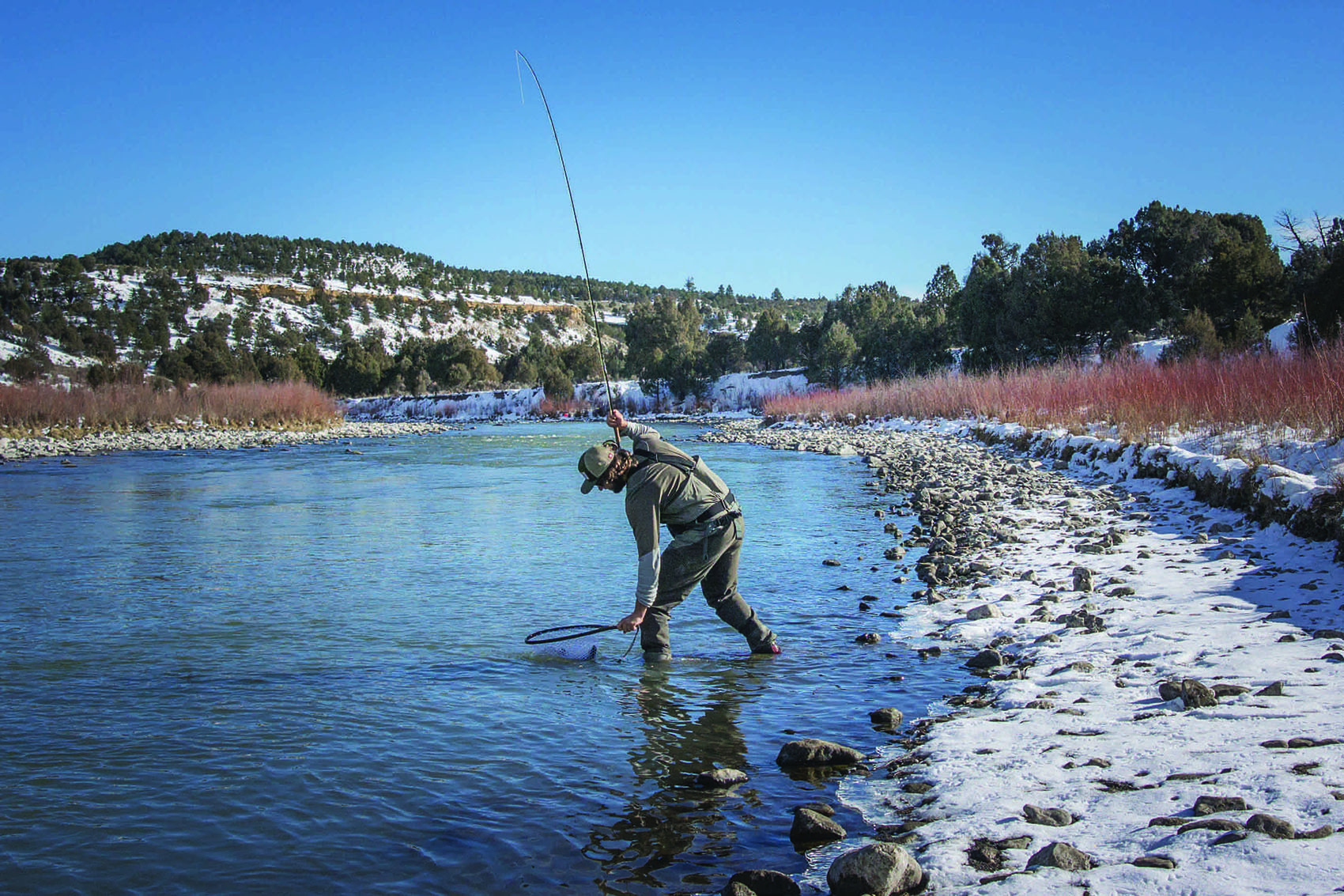 new mexico wintertime flyfishing