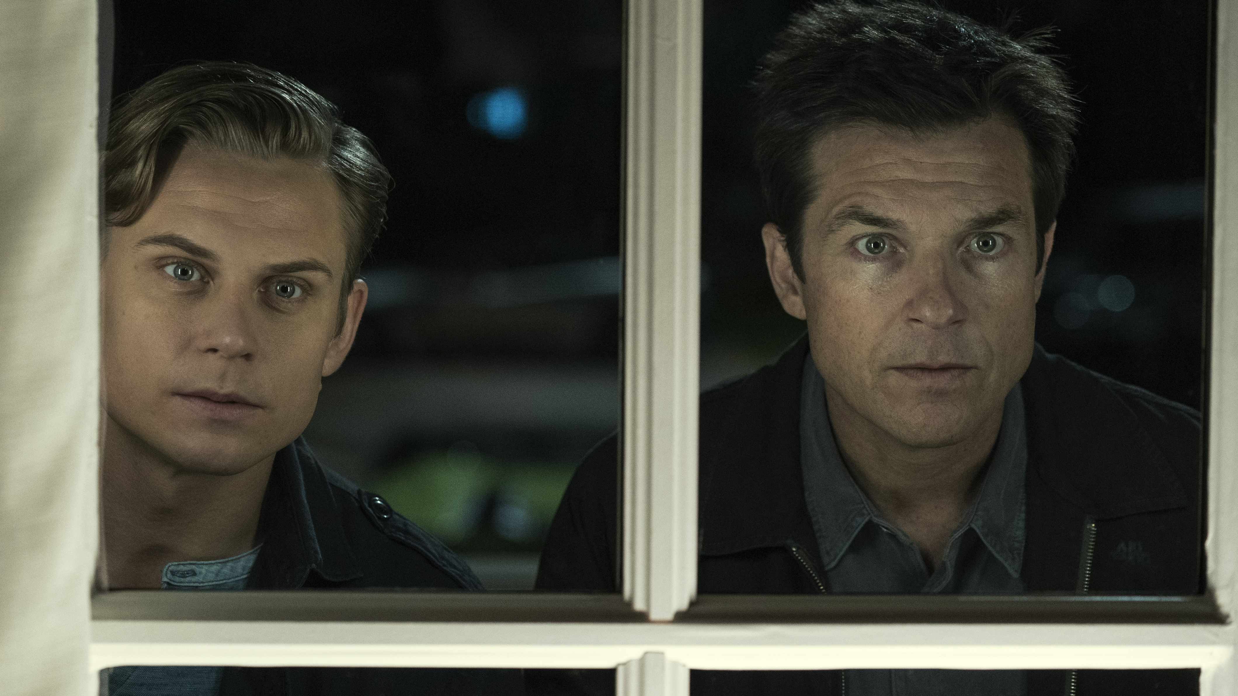 Billy Magnussen and Jason Bateman in a scene from 'Game Night.'