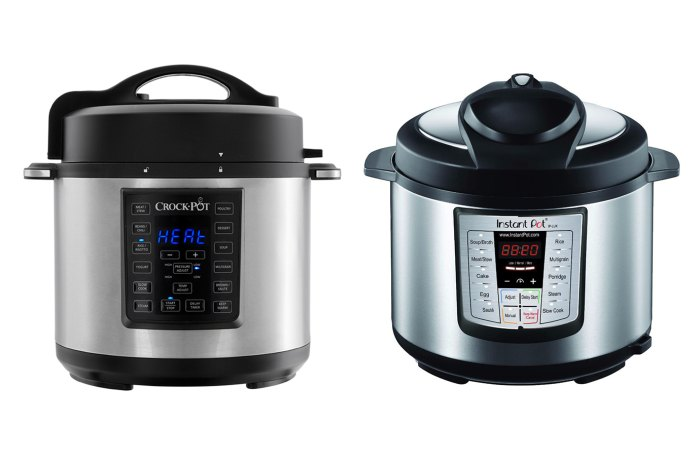 The Crock-Pot Express Crock Multicooker and the Instant Pot Lux 6-in-1 V3