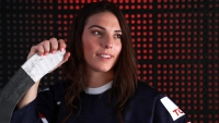 PARK CITY, UT - SEPTEMBER 26: Ice Hockey player Hilary Knight poses for a portrait during the Team USA Media Summit ahead of the PyeongChang 2018 Olympic Winter Games on September 26, 2017 in Park City, Utah.