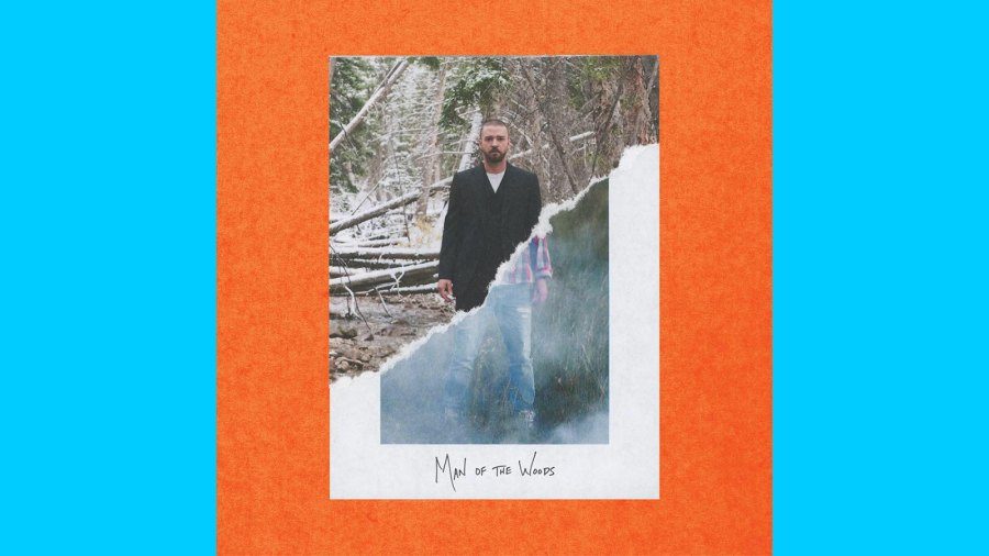 "The album cover for Justin Timberlake's ""Man of the Woods."""