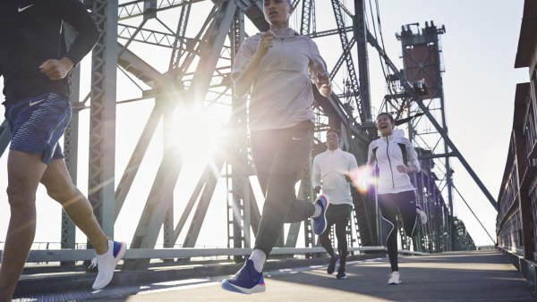 Athletes running in Nike Epic React Flyknit