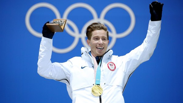 PYEONGCHANG-GUN, SOUTH KOREA - FEBRUARY 14: Gold medalist Shaun White of the United States poses during the medal ceremony for the Snowboard Men's Halfpipe Final on day five of the PyeongChang 2018 Winter Olympics at Medal Plaza on February 14, 2018 in Pyeongchang-gun, South Korea.