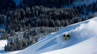 Piers Solomon skiing Engelberg, a run at Utah's Whisper RIdge