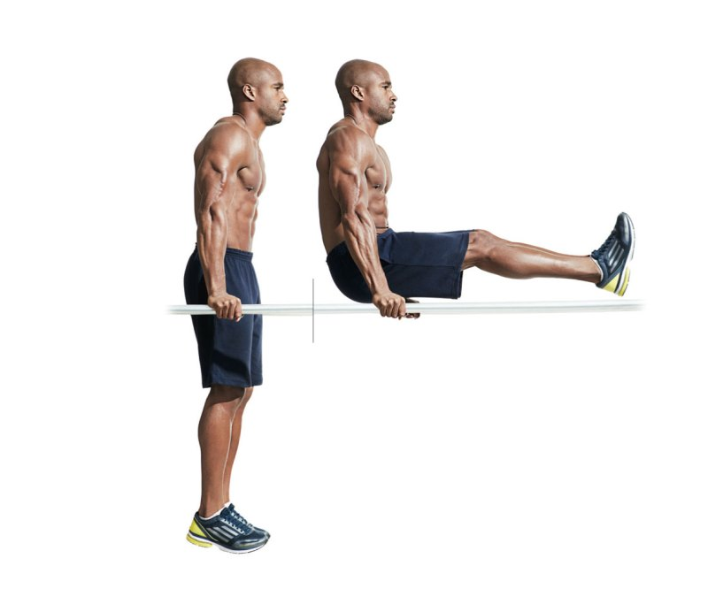 Best ab exercises to get a six-pack — Dip/leg raise combo