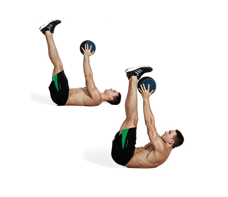 Best ab exercises to get a six-pack — Medicine ball v-up