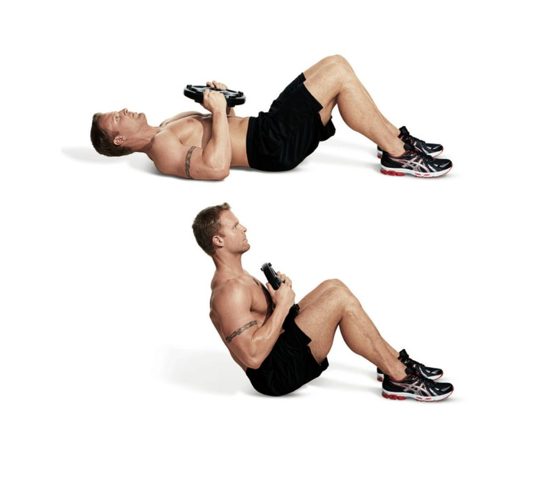 Best ab exercises to get a six-pack — Weighted situp