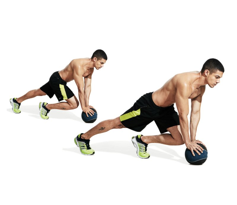 Best ab exercises to get a six-pack — Medicine ball mountain climber