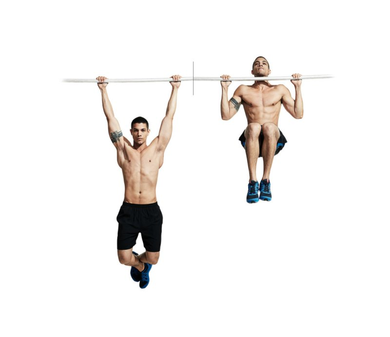Best ab exercises to get a six-pack — Pullup to knee raise