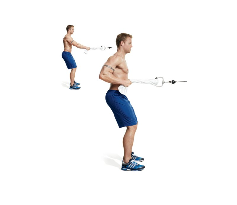 The 30 Best Back Exercises of All Time - Towel Cable Row