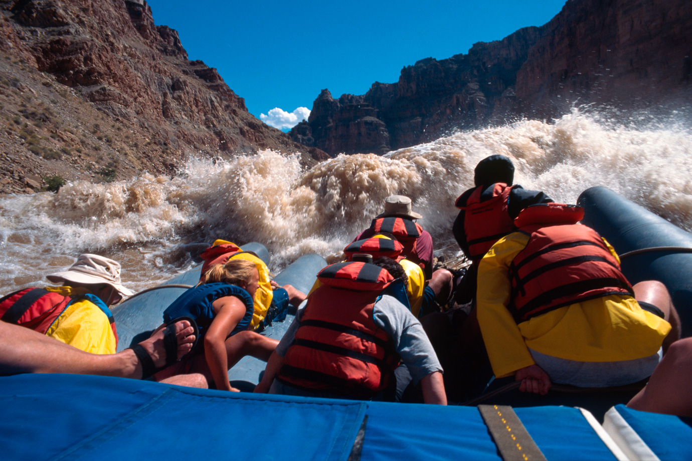White water rafting in Cataract Canyon