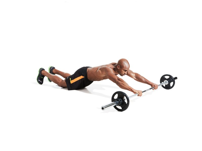 Best ab exercises to get a six-pack — Barbell rollout