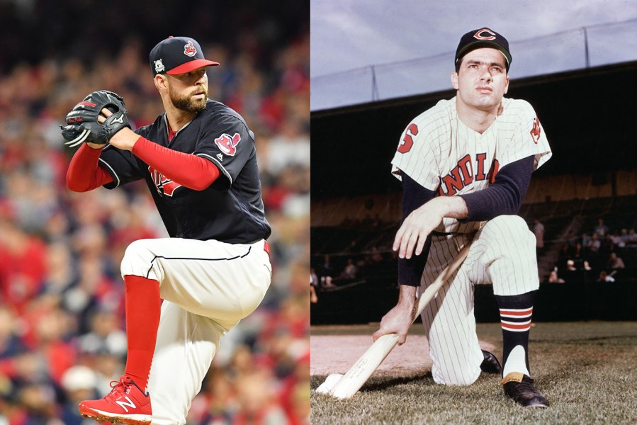Corey Kluber and Rocky Colavito of the Cleveland Indians