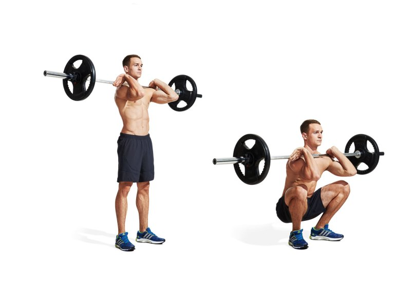 Best ab exercises to get a six-pack — Front squat