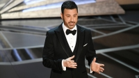HOLLYWOOD, CA - MARCH 04: Host Jimmy Kimmel speaks onstage during the 90th Annual Academy Awards at the Dolby Theatre at Hollywood & Highland Center on March 4, 2018 in Hollywood, California.