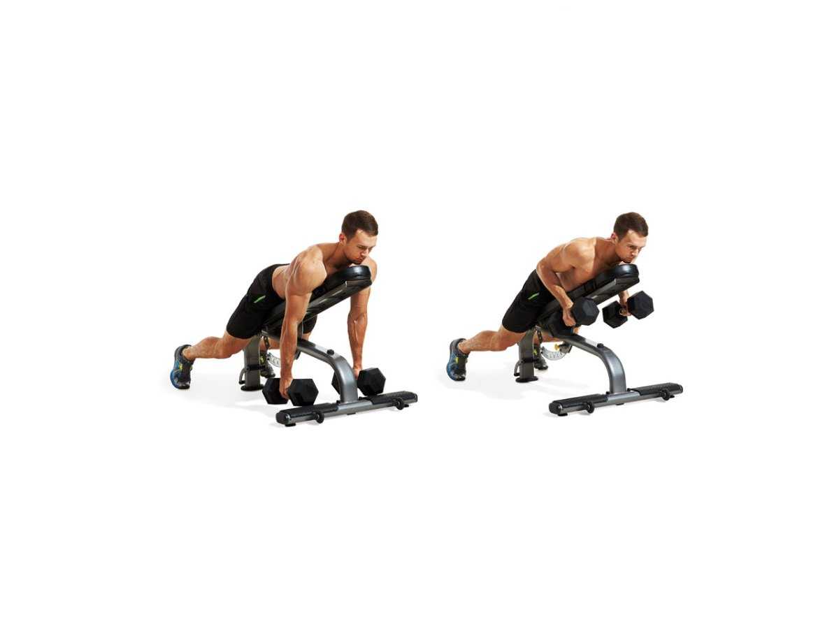Image result for Long Angled Dumbbell Row