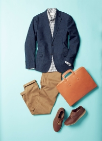The blended blazer strikes the right note between comfort and formality.