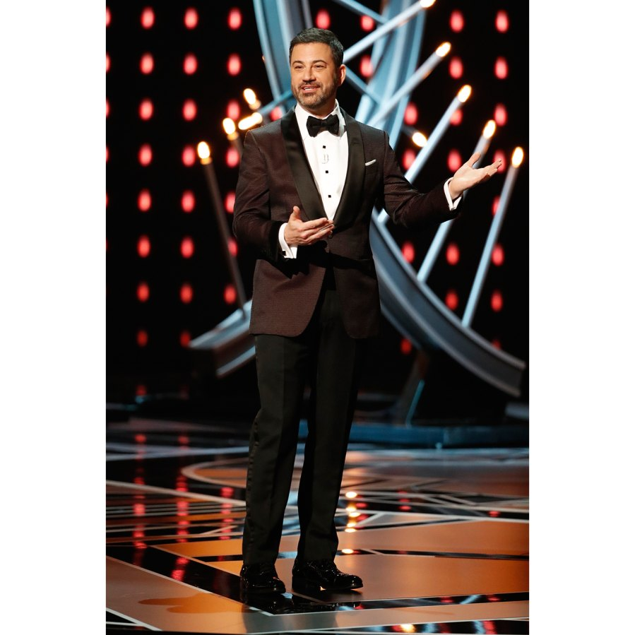 Jimmy Kimmel onstage at the 2018 Oscars