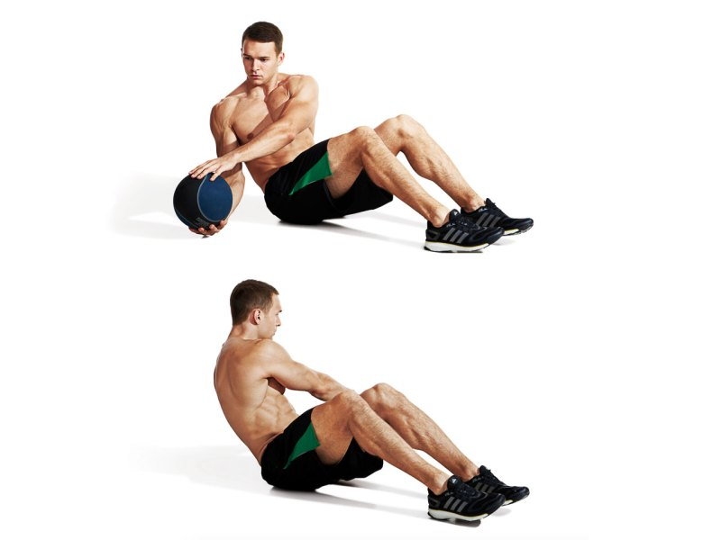 Best ab exercises to get a six-pack — Medicine ball russian twist