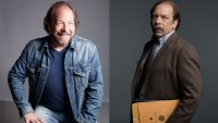 Actor Bill Camp, and Camp as Robert Chesney on The Looming Tower