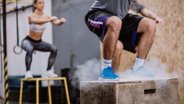 box jumping exercise