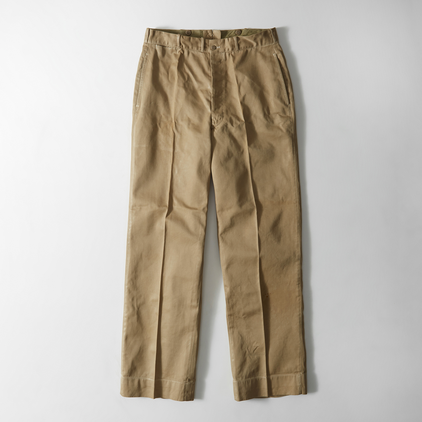 The Kennan Straight chinos, inspired by a pair of Abercrombie trousers worn by President John F. Kennedy.
