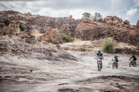 Bikers cycling across Africa as part of the Nedbank Tour de Tuli