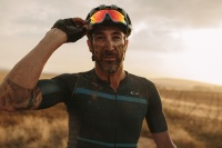 Oakley cyclist covered in dirt