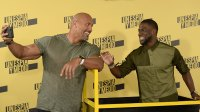Dwayne Johnson and Kevin Hart attend a photocall for 'Un Espia y Medio' (Central Intelligence) at the Villamagna Hotel on June 7, 2016
