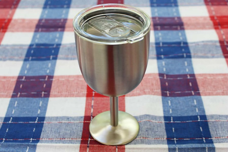 Stainless Steel Double-Walled Wine Glass