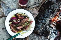 Fire-licked Skirt Steak With Salsa Verde Recipe