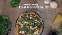 what's cooking cast iron pizza