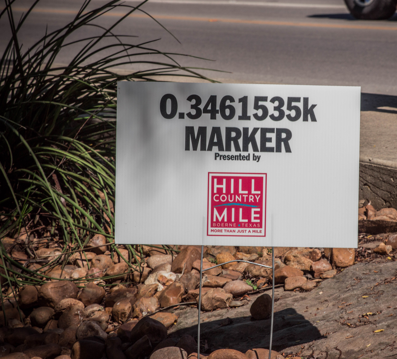 """Don't take the hyper-precise """"mile"""" markers at the Boerne .5K serve as an indication of how seriously the race was taken."""