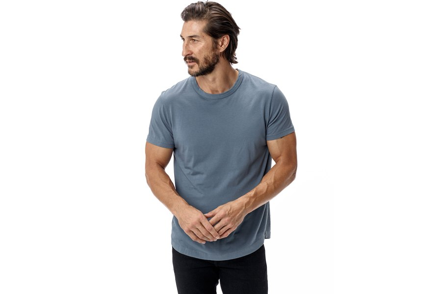 Buck Mason's Pima Cotton T-shirt makes a great Father's Day gift for a new dad.