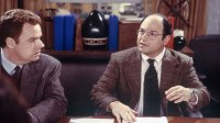 SEINFELD -- 'The Maid' Episode 19 -- Pictured: (l-r) Chip Chinery as Co-Worker #1, Jason Alexander as George Costanza